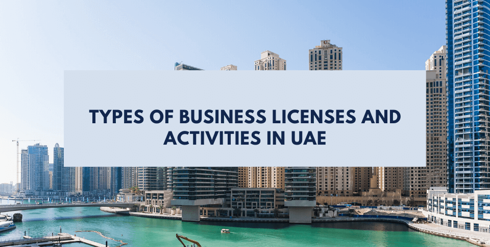 Business licenses and activities in UAE